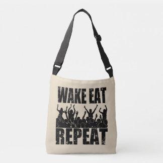 WAKE EAT ROCK REPEAT #2 (blk) Crossbody Bag