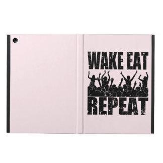 WAKE EAT ROCK REPEAT #2 (blk) iPad Air Cover