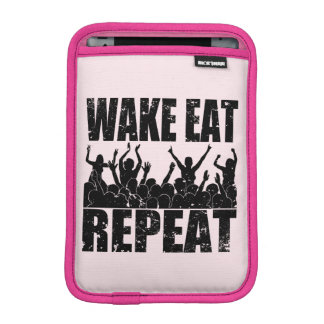 WAKE EAT ROCK REPEAT #2 (blk) Sleeve For iPad Mini