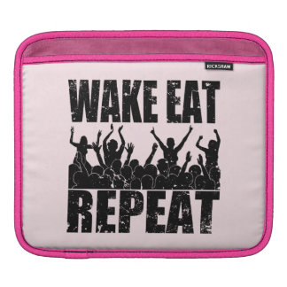 WAKE EAT ROCK REPEAT #2 (blk) Sleeve For iPads