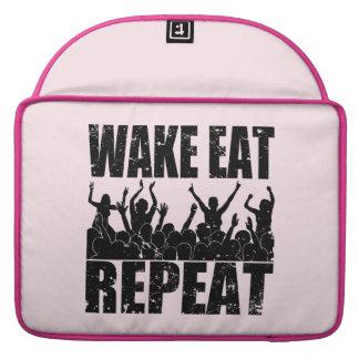 WAKE EAT ROCK REPEAT #2 (blk) Sleeve For MacBooks