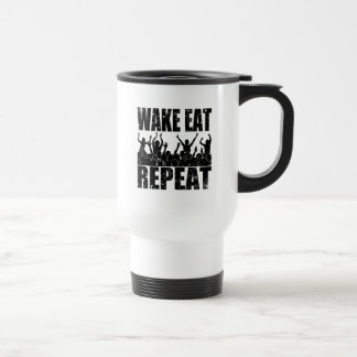 WAKE EAT ROCK REPEAT #2 (blk) Travel Mug