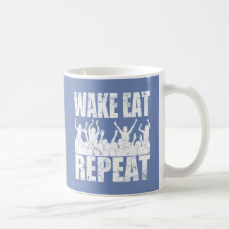 WAKE EAT ROCK REPEAT #2 (wht) Coffee Mug