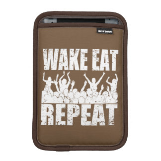 WAKE EAT ROCK REPEAT #2 (wht) Sleeve For iPad Mini