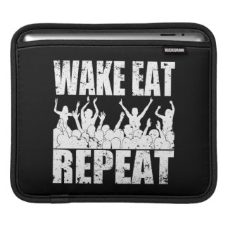 WAKE EAT ROCK REPEAT #2 (wht) Sleeve For iPads