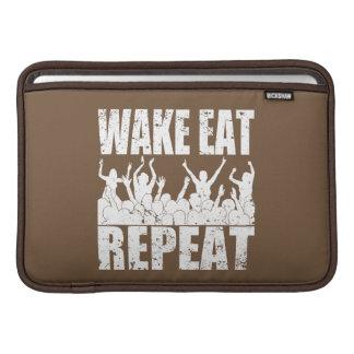 WAKE EAT ROCK REPEAT #2 (wht) Sleeve For MacBook Air