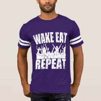 WAKE EAT ROCK REPEAT #2 (wht) T-Shirt