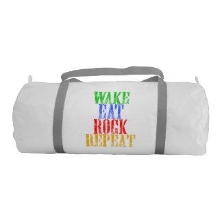 WAKE EAT ROCK REPEAT #3 GYM BAG