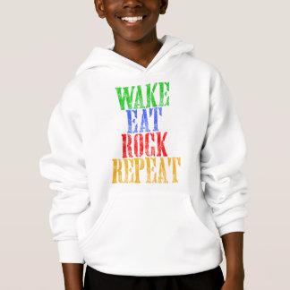 WAKE EAT ROCK REPEAT #3 HOODIE