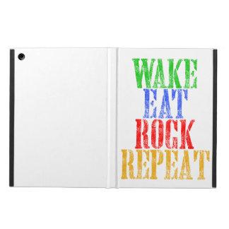 WAKE EAT ROCK REPEAT #3 iPad AIR COVER