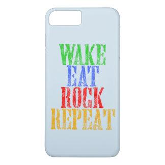 WAKE EAT ROCK REPEAT #3 iPhone 8 PLUS/7 PLUS CASE