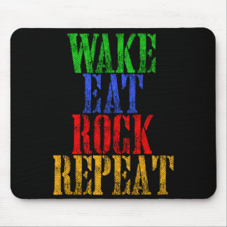 WAKE EAT ROCK REPEAT #3 MOUSE PAD
