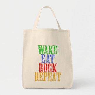 WAKE EAT ROCK REPEAT #3 TOTE BAG