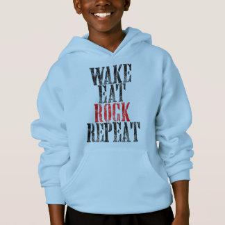 WAKE EAT ROCK REPEAT (blk) Hoodie