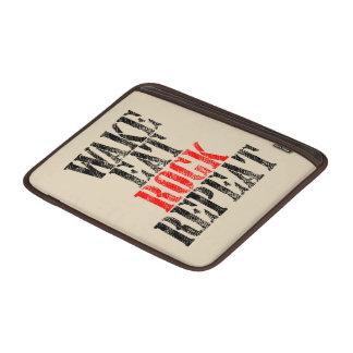 WAKE EAT ROCK REPEAT (blk) MacBook Sleeve