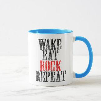 WAKE EAT ROCK REPEAT (blk) Mug