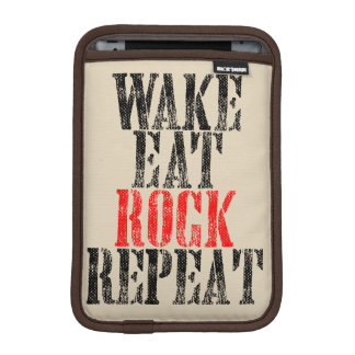 WAKE EAT ROCK REPEAT (blk) Sleeve For iPad Mini