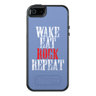 WAKE EAT ROCK REPEAT (wht) OtterBox iPhone 5/5s/SE Case