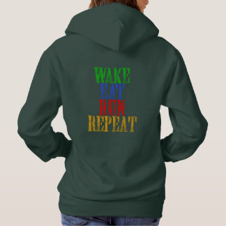 WAKE EAT RUN REPEAT HOODIE