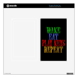 Wake Eat Sing Repeat Skin For Kindle Fire
