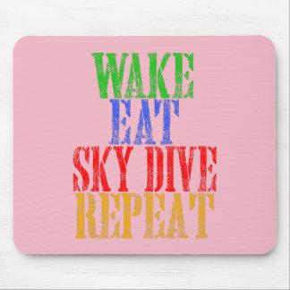 WAKE EAT SKYDIVE REPEAT MOUSE PAD