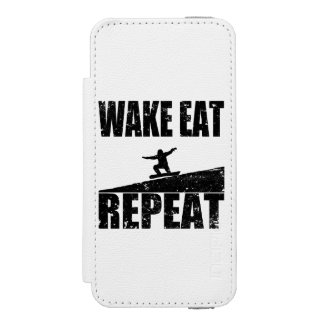 Wake Eat Snowboard Repeat #2 (blk) Wallet Case For iPhone SE/5/5s