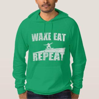 Wake Eat Snowboard Repeat #2 (wht) Hoodie