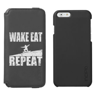 Wake Eat Snowboard Repeat #2 (wht) iPhone 6/6s Wallet Case