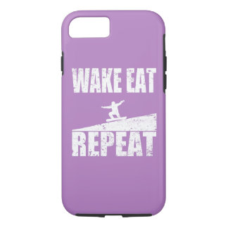Wake Eat Snowboard Repeat #2 (wht) iPhone 8/7 Case