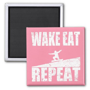 McTiffany Tiffany Aqua Wake Eat Snowboard Repeat #2 (wht) Magnet