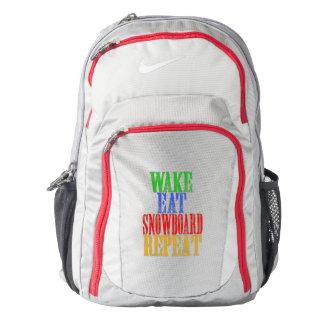 WAKE EAT SNOWBOARD REPEAT BACKPACK