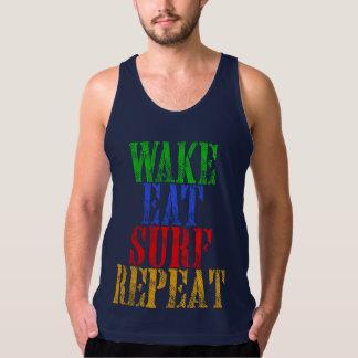 WAKE EAT SURF REPEAT TANK TOP