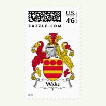 Wake Family Crest Stamps