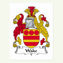 Wake Family Crest Postcard