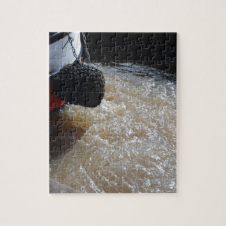 Wake From A Canal Boat Jigsaw Puzzle