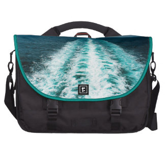 Wake From a Cruise Ship Laptop Bags