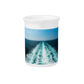 Wake From a Cruise Ship Drink Pitcher
