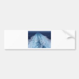 Wake from cruise ship bumper sticker