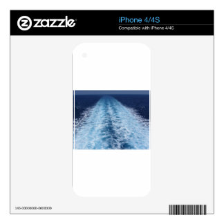 Wake from cruise ship iPhone 4S decals