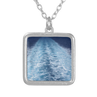 Wake from cruise ship silver plated necklace