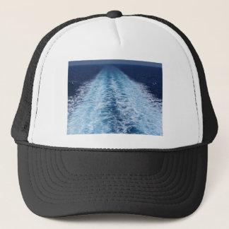 Wake from cruise ship trucker hat