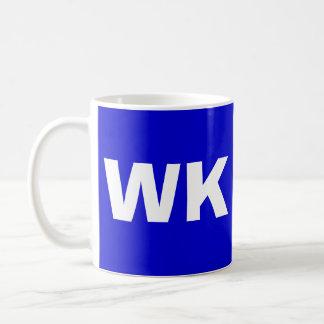 WAKE ISLAND  with Bold WK Coffee Mug