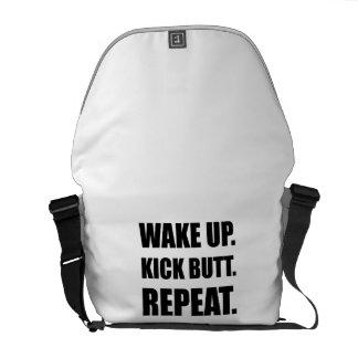Wake Kick Butt Repeat Messenger Bag