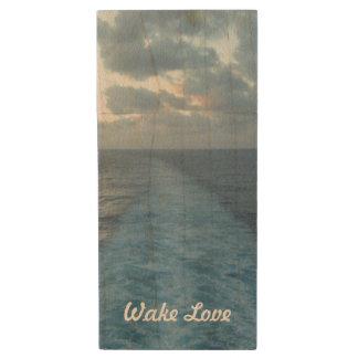 Wake Love Wood USB Flash Drive