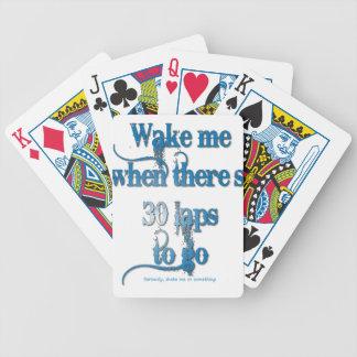 Wake me bicycle playing cards