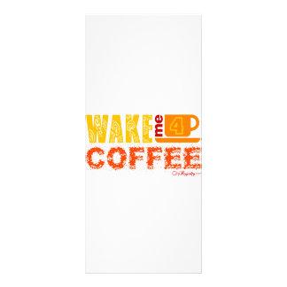 Wake me for coffee rack card