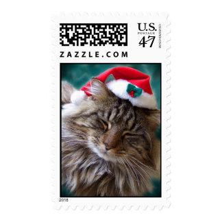 Wake Me Up Santa Cat Stamps