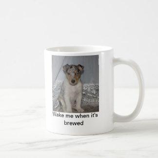 Wake me when it's brewed coffee mug