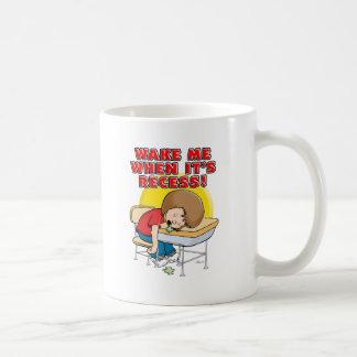 Wake me when it's recess coffee mug