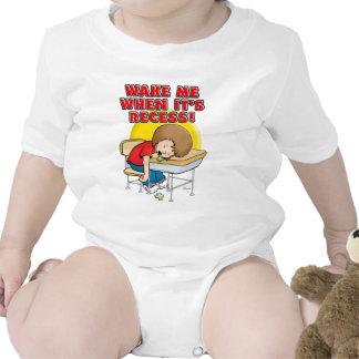 Wake me when it's recess baby bodysuits